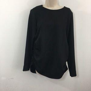 COS long sleeve black blouse